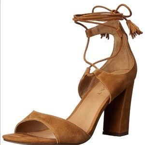 Report mariachi Tan Suede heels sandals 7.5